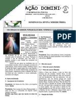 Folheto 08 de Abril de 2018 2º Domingo Da Páscoa