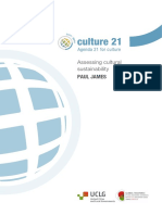 Assessing Cultural Sustainability Agenda