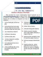 BRU KAUHOUHGRA [PROVERBS OF THE BRU (REANG)COMMUNITY] PDF FILE FREE DOWNLOADD