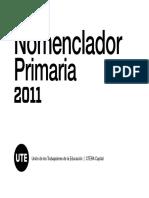nomenclador primaria