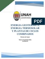 Energia Geotermica, Energia Termosolar y Ciclos combinados