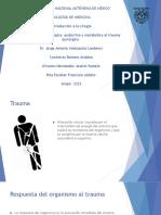 Respuesta inmunológica, endócrina y metabólica al trauma quirúrgico.