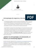Antropología de Negocios y de Empresa