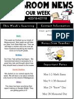 weekly newsletter  powerpoint  27