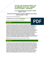 Respuestas de Las Plantas Ante Los Factores Ambientales Del Cambio Climático Global