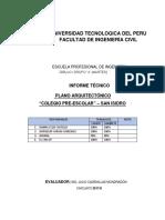 Plano Arquitectónico Informe