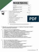 Le Pronom Personnel Grammaire 350 Exercices Niveau Superieur II 3