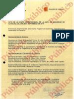 Acta de la Junta Extraordinaria de Seguridad de Catalunya celebrada el 28 de Septiembre de 2017-watermark