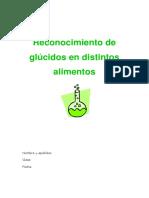 Reconocimiento de Glúcidos en Distintos Alimentos