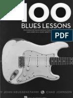 100 Blues Lessons Guitar - Chad Johnson