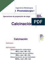 Calcinacion de minerales