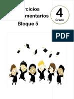 4to Grado - Bloque 5 - Ejercicios Complementarios