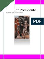 Analisis de La Obra Literaria El Señor Presidente