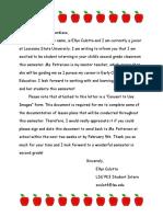 block 2 - letter to parents