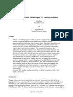 A Framework for Developing Efl Reading Vocabulary