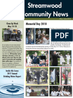 Streamwood Newsletter, May 2018