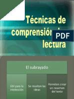 Técnicas de Comprensión Textual