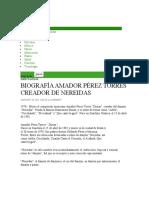 Biografía Amador Pérez Torres Creador de Nereidas _ EspectaculosMX