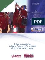 Rol de Autoridades Indígena Originario Campesinas en El Saneamiento Interno