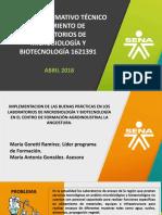 Presentación Proyecto Técnico Alistamiento de LAB 1621391
