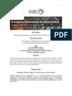 El Concepto y El Objeto de La Ciencia Política Entre Los Primero Politólogos Mexicanos