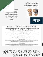 Análisis de Falla - Biomateriales