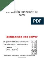 Estimación Con Solver de Excel