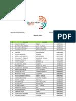 Relación de Seleccionados Parlamentos Regionales 2018