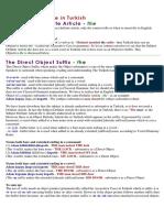 Turkish Language - The Definite Article in Turkish_4