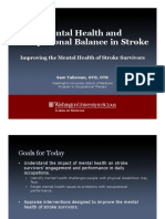 mental health and occupational balance in stroke- improving the mental health of stroke survivors aota presentation