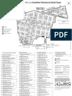 Plan du Cimetière Parisien de Saint-Ouen (extramuros)