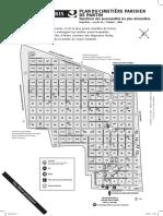 Plan du Cimetière Parisien de Pantin (extramuros)