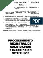Procedimiento Registral de Calificacion