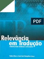 Relevância Em Tradução - Perspectivas Teóricas e Aplicadas