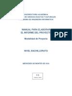 Manual Elaboracion Del Informe Escrito PROYECTO V6 2018