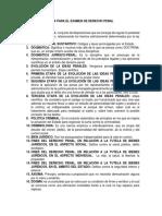Guía Para El Examen de Derecho Penal