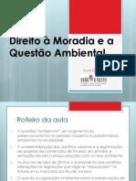001 Direito à Moradia e a Questão Ambiental