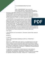 Ley Electoral y de Las Organizaciones Politicas