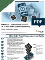 MMA845xQ Accelerometer Freescale Xtrinsic