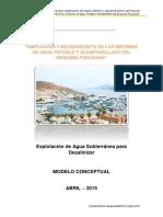 Informe Modelo Conceptual Del Sistema Acuifero Chilca