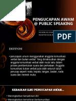 Pengucapan Awam @ Public Speaking