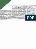 News ProgrammetoGroomBuddingGymnastsLaunched