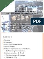 Seminário Fontes de Energia Qui116 1s2016