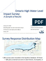 2017 Lake Ontario High Water Level Impact Survey:A Sample of Results
