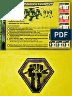 Malcontents Zentraedi Assault Squadron Core Force Card for Robotech RPG Tactics