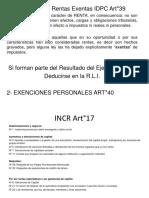 INCR Art°17 – Rentas Exentas Art°39
