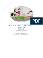 Manual Basico para la Enseñanza del Tenis de mesa