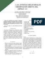 Antenas Helicoidales y Dipolos