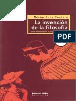 Cordero Nestor La Invencion de La Filosofia PDF