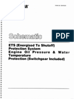 Schematic ETS Protection System Oil Presure Water Temp Switchgear Included
